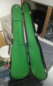 Vioolkoffer in groen