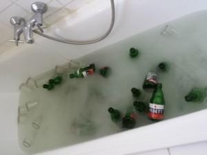 Flessen wassen